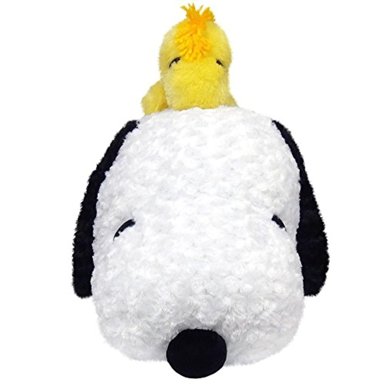 特大 ぬいぐるみ スヌーピー 90cm ウッドストック付 大きい グッズ ビッグサイズ かわいい 抱き枕 ボタン 犬 鳥 ギフトに [並行輸入品]