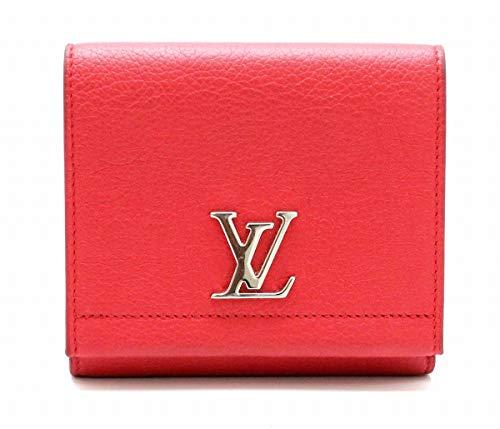 [ルイ ヴィトン] LOUIS VUITTON ポルトフォイユ ロックミー II コンパクト 2つ折 財布 レザー カーフ ルビー レッド 赤 M64308