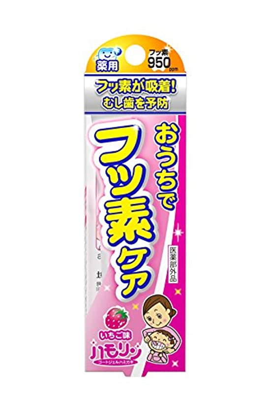 プレート休み感覚ハモリン コートジェルハミガキ いちご味 30g