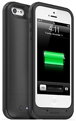 メーカー正規輸入品 保証付 mophie juice pack air for iPhone SE/5s/5 (1,700mAh バッテリー内臓ケース) ブラック(黒色) MOP-PH-000030 ブラック(黒色) [並行輸入品]