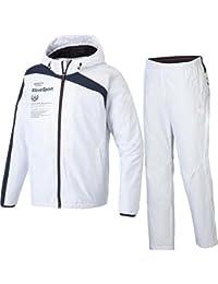 [デサント] コスミックサーモ フーデッドジャケット&パンツ 上下セット ホワイト DAT-3752/DAT-3752P WHT