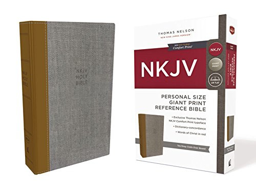 Download The Holy Bible: New King James Version, Tan/Gray, Personal Size Reference Bible: Red Letter Edition, Comfort Print 0785217002