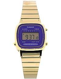 【P】CASIO(カシオ) シンプルデジタル LA-670WGA-6/LA670WGA-6 ゴールド パープル レディースウォッチ 腕時計 [並行輸入品]