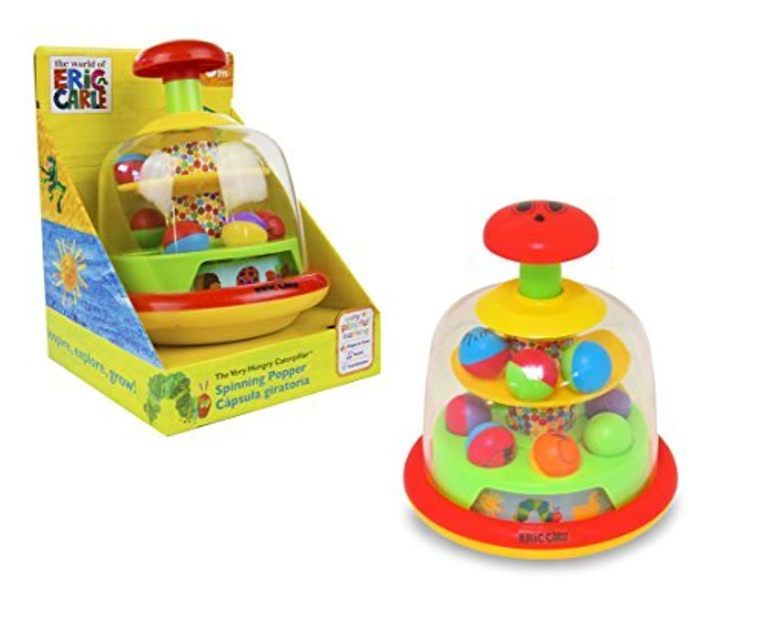 World of Eric Carle, The Very Hungry Caterpillar Push and Spin Popper Toy by Kids Preferred by Kids Preferred [並行輸入品]