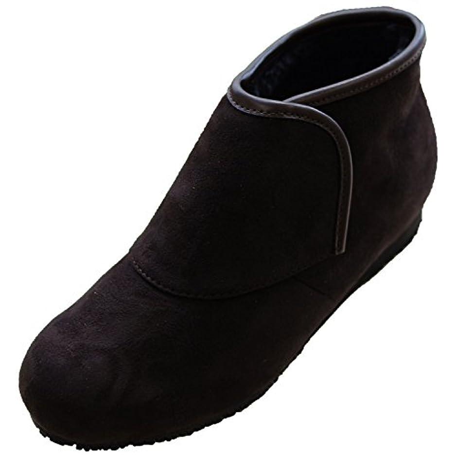 便利さレンジカタログウェルファン 防寒ブーツ リシェス 防滑ソール 婦人用 ブラウン L