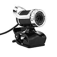 POOKaa 360度USB 12M HDウェブカメラWebカムクリップオンデジタルビデオカメラ(マイク付き) (ブラック)