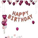 深紅の風船セット、子供の誕生日パーティーの背景壁の装飾的な風船大人の誕生日パーティーの風船アルミニウム風船 (色 : A)