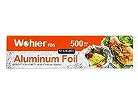 Wohler耐久性キッチンアルミ箔ロール、500Sq Ft シルバー