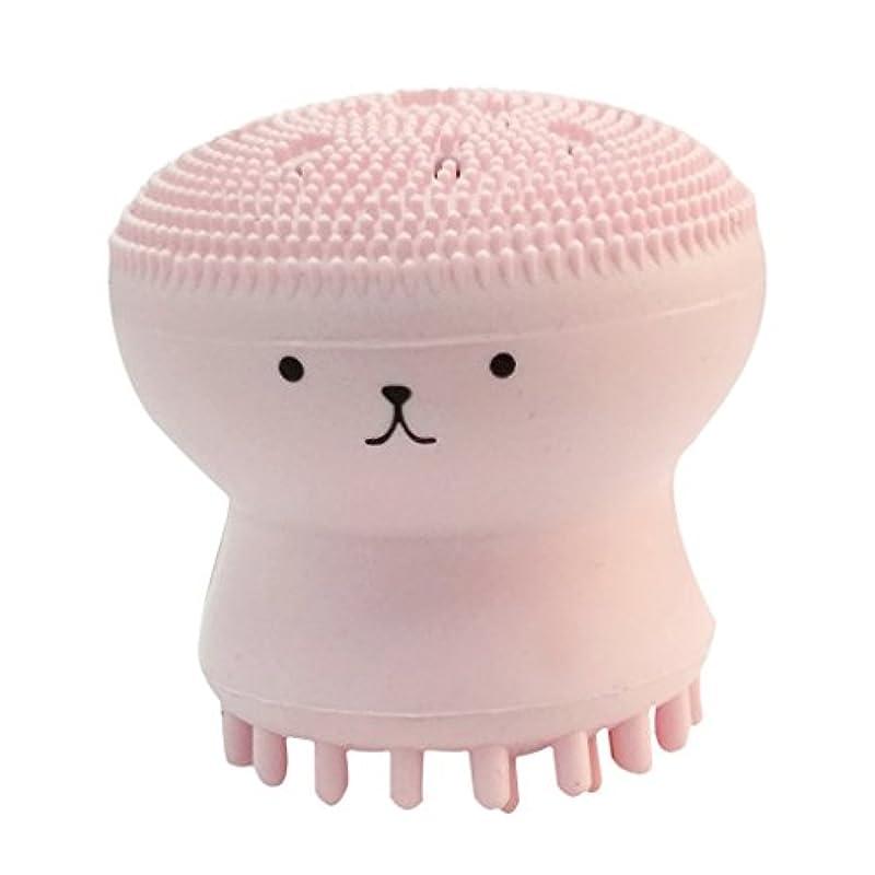 ポテトプロフェッショナル方向Kesoto タコ形 洗顔用 クレンジングブラシ シリコーン マッサージブラシ 毛穴清掃用ブラシ スポンジパフ