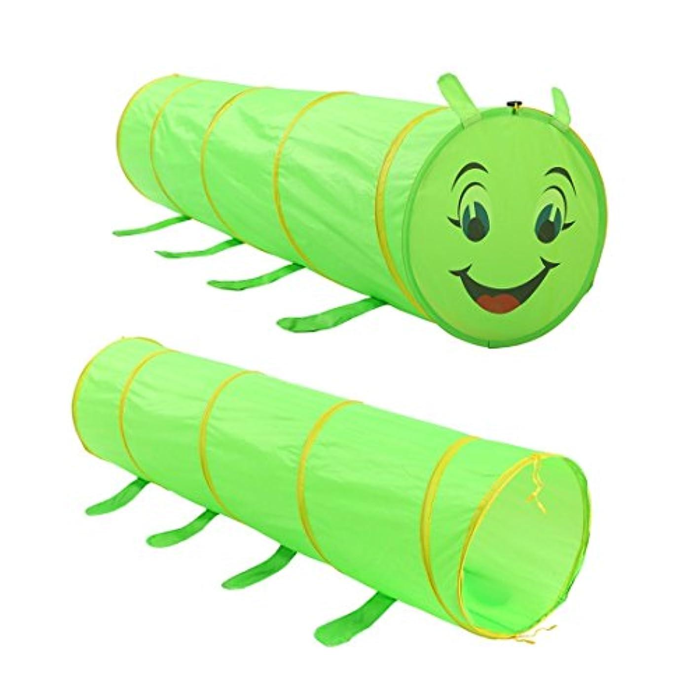 半径夫婦今後方朝日スポーツ用品店 子供のテント キャタピラ トンネル ベビー漫画 クロールゲーム おもちゃ 家 オーシャンウェーブ ボールプールテント (色 : Caterpillar)