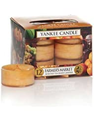 Yankee Candle Farmer 's Market, Food & Spice香り Tea Light Candles オレンジ 1163587-YC