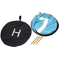 110cmファストフォルダーランディングパッドユニバーサルFPVドローンパーキング、エプロン防水パッド、DJIスパークマヴィックFPVレーシングドローンヘリコプター(オレンジ&ブルー)