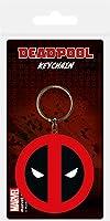 Pyramid International Deadpool Symbol Rubber Keychain, Multi-colour, 4.5 x 6cm