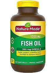 ネイチャーメイド Nature Made フィッシュオイル オメガ3 サプリメント ソフトジェル 230粒 [並行輸入]