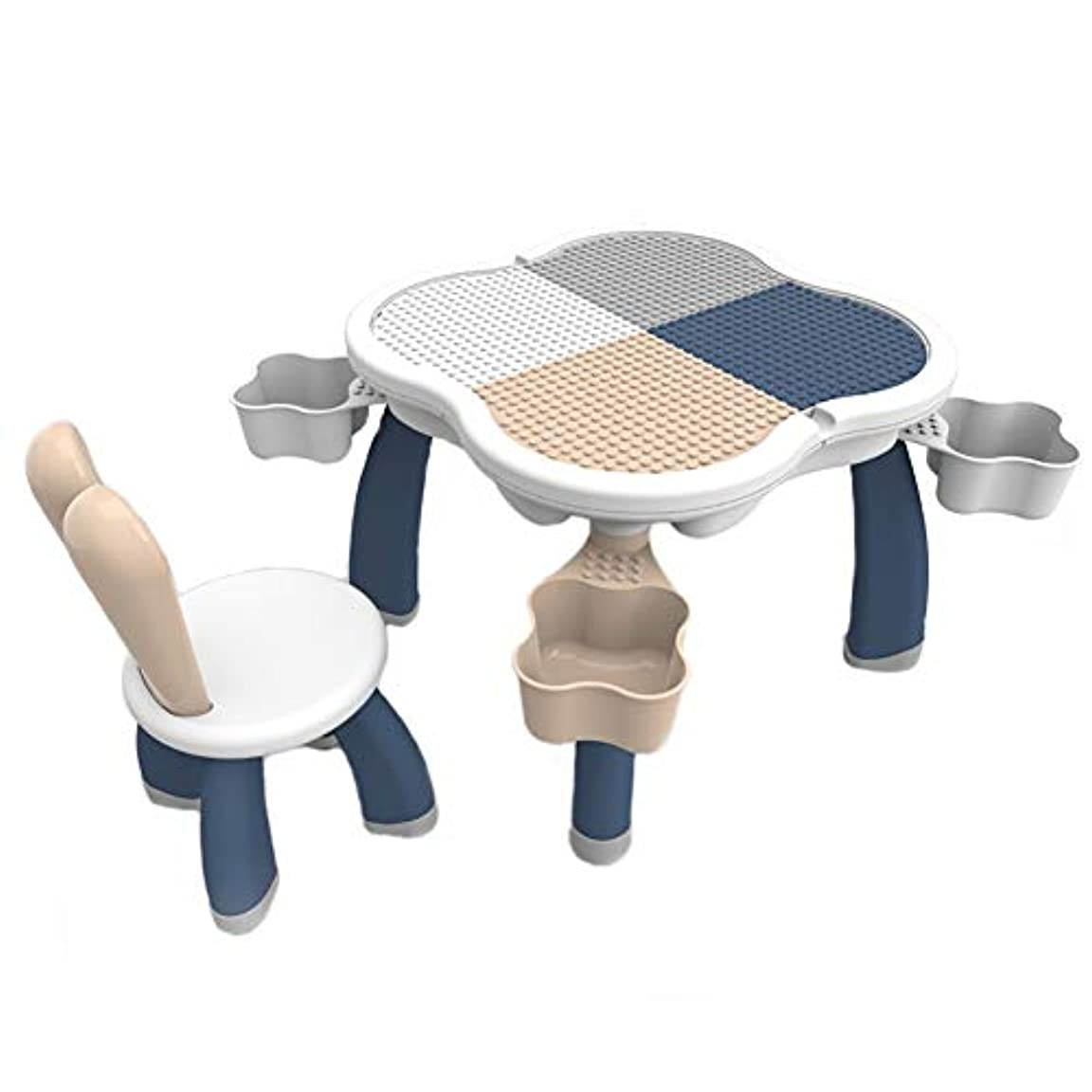 仲良し感謝ドナウ川子供のビルディングブロックテーブル、多機能パズルゲームテーブルスタディテーブルダイニングテーブルおもちゃ収納テーブル120kg