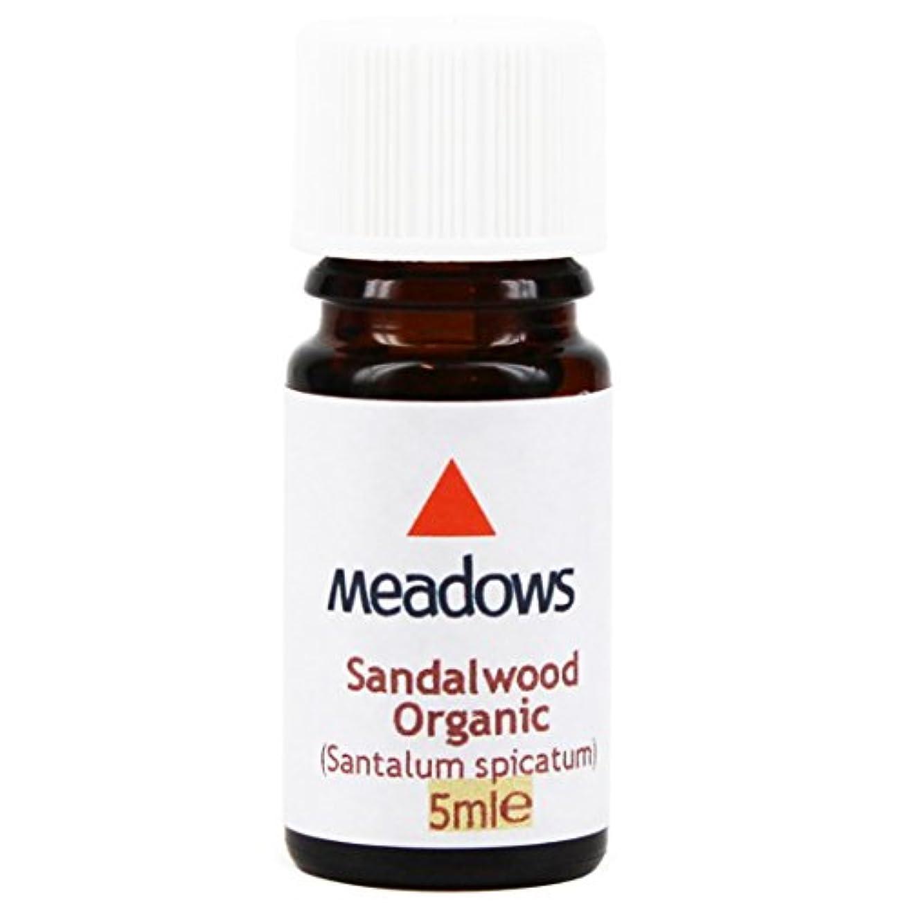のり補充予見するメドウズ エッセンシャルオイル サンダルウッド 5ml
