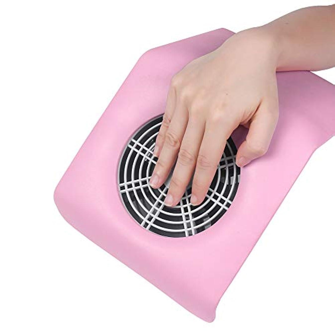 検証プール力強いネイルケア 美容サロン 集塵機 ネイル ダスト コレクター コンパクト ジェルネイル ネイルマシーン (ピンク)