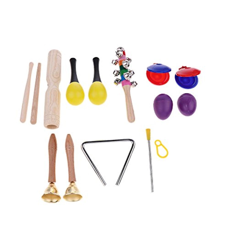 Fityle タンバリン ドラムパーカッション 打楽器セット ミュージカルおもちゃ 子供 誕生日 ギフト