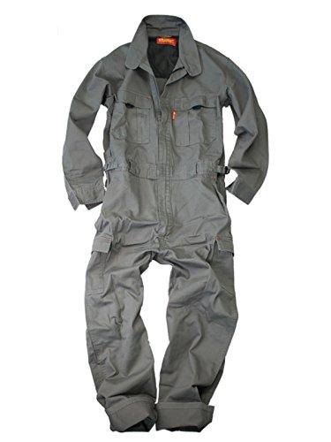 Prono(プロノ)作業用長袖カーゴツナギ116-420H/(綿100%ツナギ)/チャコールグレー/LL