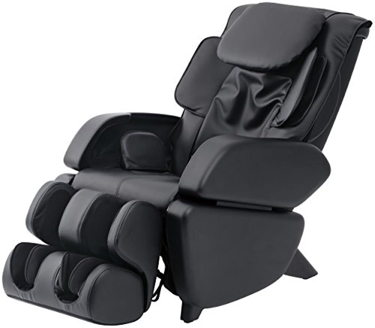 骨髄平和なめらかスライヴ マッサージチェア くつろぎ指定席 「つかみもみ機能搭載」 ブラック CHD-9006(K)