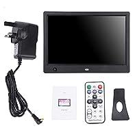 10インチ HD デジタル フォトフレーム フォトプレーヤー 人感センサー 自動再生 動画/音楽/写真をプレーヤー機能搭載 カレンダー リモコン付き(ブラック)