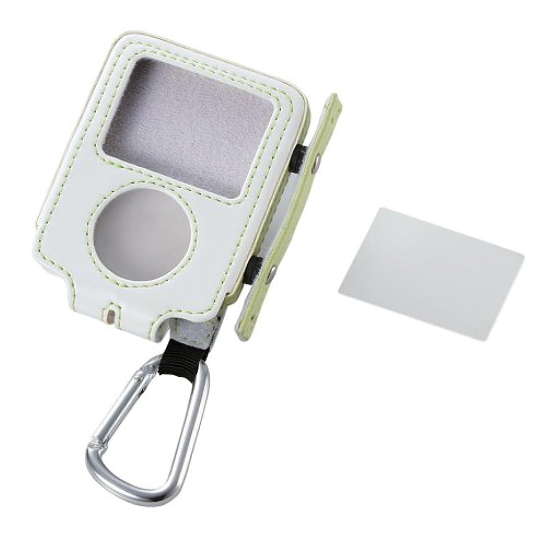 エレコム 3rd iPod nano用レザーケース 巻取りタイプ(グリーン) AVD-LCRA3NGN