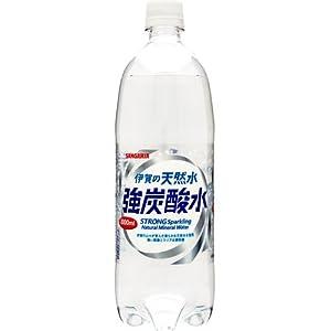 サンガリア 伊賀の天然水 強炭酸水 1000ml×12本