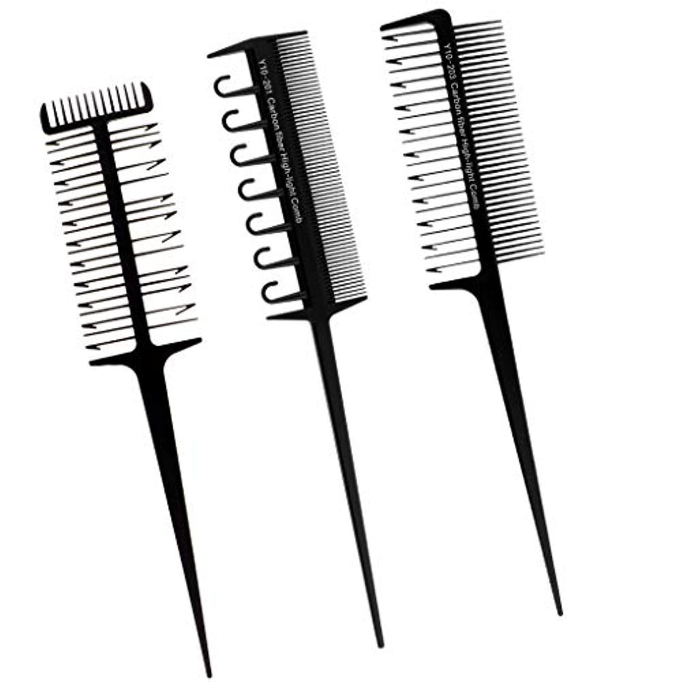 想像する黒くする請負業者ヘアダイブラシ プロ用 へアカラーセット DIY髪染め用 サロン 美髪師用 ヘアカラーの用具 3本入