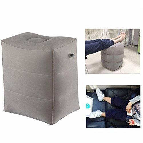 Airgoods フットレスト 足置き 子供が飛行機で快適に眠られる実現, 携帯しやすい フラットクッション 車用 飛行機用 収納袋付き (grey)…