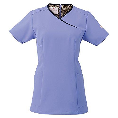 (FOLK) フォーク ワコール レディススクラブ 女性用 診察衣 白衣 (HI703) ストエカスXダークネイビー M