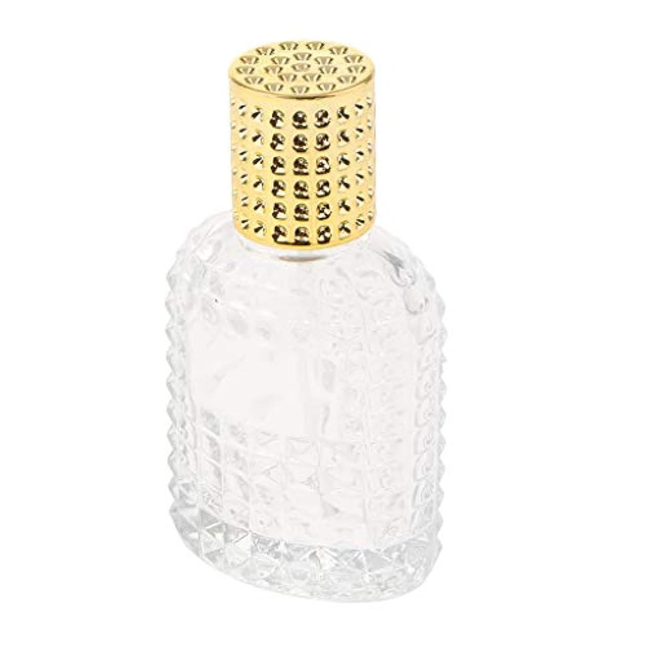 SM SunniMix ガラス 香水瓶 空 スプレー香水ボトル 美しいパイナップルデザイン 詰め替え可能 全4種 - ゴールド50ml