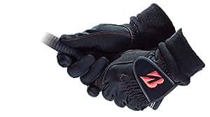 BRIDGESTONE(ブリヂストン) ゴルフグローブ ブリヂストンゴルフ グローブ WARM GRIP メンズ GLG68J 両手 ブラック M