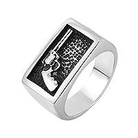 Aooaz指輪 メンズ 結婚指輪 幅広 ステンレス ビンテージ パンク ゴシック パンク リング 指輪 シルバー