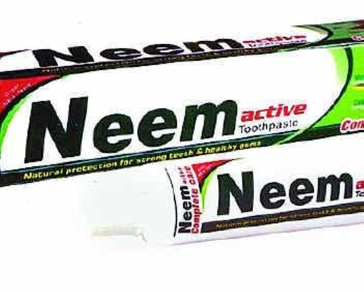ふけるクリア赤字Neem Active Herbal Toothpaste 125g - Natural Protection for Strong Teeth & Healthy Gums by Crazee Deal