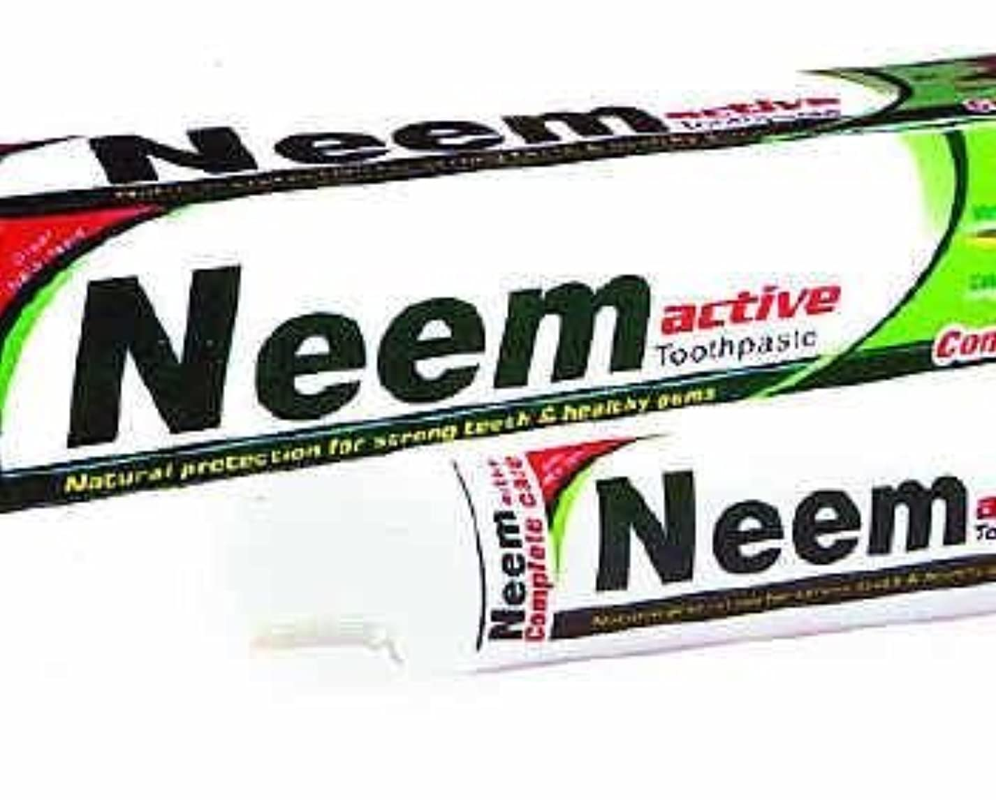 特殊先のことを考えるシングルNeem Active Herbal Toothpaste 125g - Natural Protection for Strong Teeth & Healthy Gums by Crazee Deal