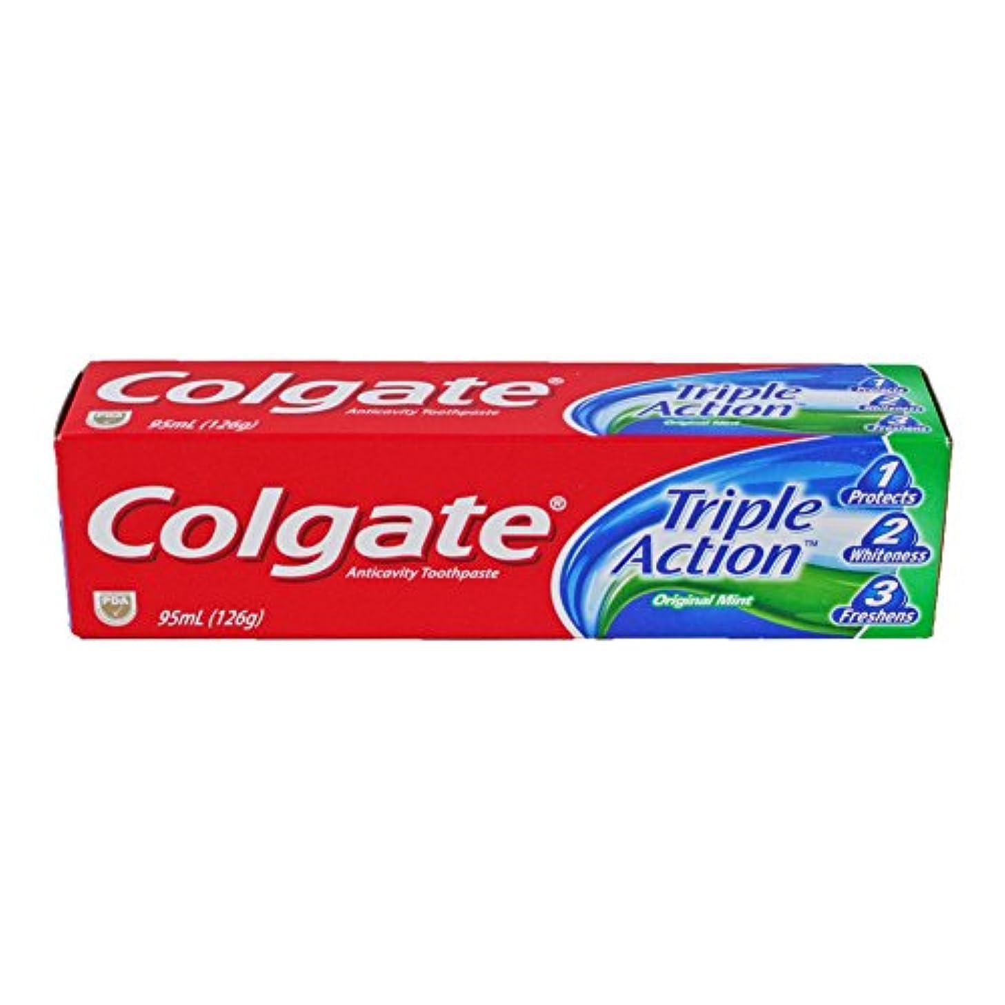 ショッピングセンター合理化平和的■歯磨き粉 コルゲート/Colgate/Triple Action オーラルケア/美容 (95mL)126g [並行輸入品]