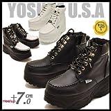 YOSUKE U.S.A ヨースケ メンズ 厚底ブーツ 厚底スニーカー ハイカット (27.0cm, ホワイト(予約))