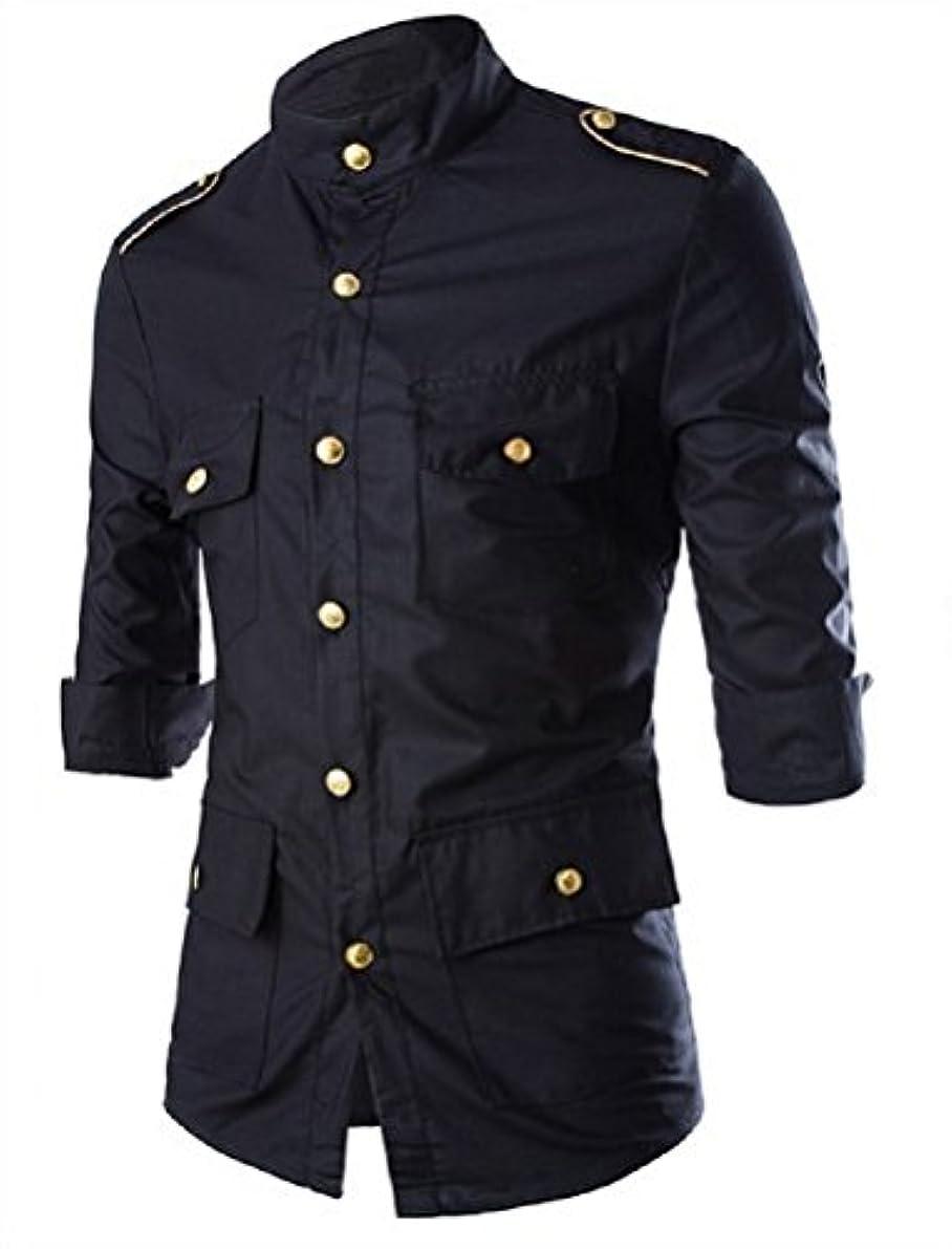 実行可能バルセロナ幻想(ティーエヌケーカンパニー)Tnk&Co. メンズ デザイン ナポレオン風 シャツ #1855