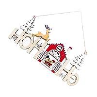 dailymall クリスマスオーナメントウッドハウスクリスマスツリーハンギングロープ付きのホリデーパーティーのための装飾置物 - 雪だるま