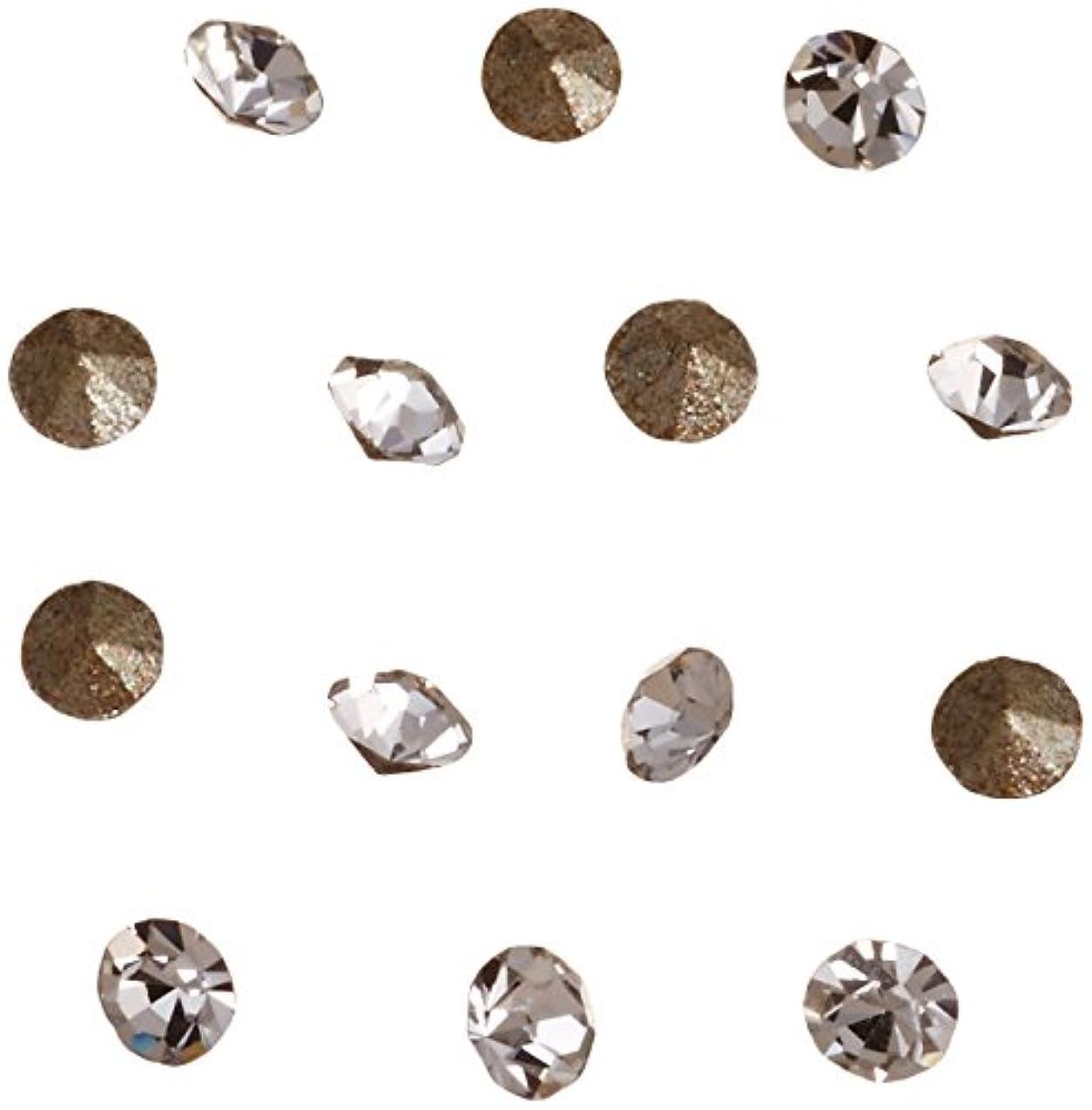 キリン追跡息切れネイルアートパーツ Vカットストーン クリスタル PP 4   約1.1~1.2mm 埋込式ラインストーン