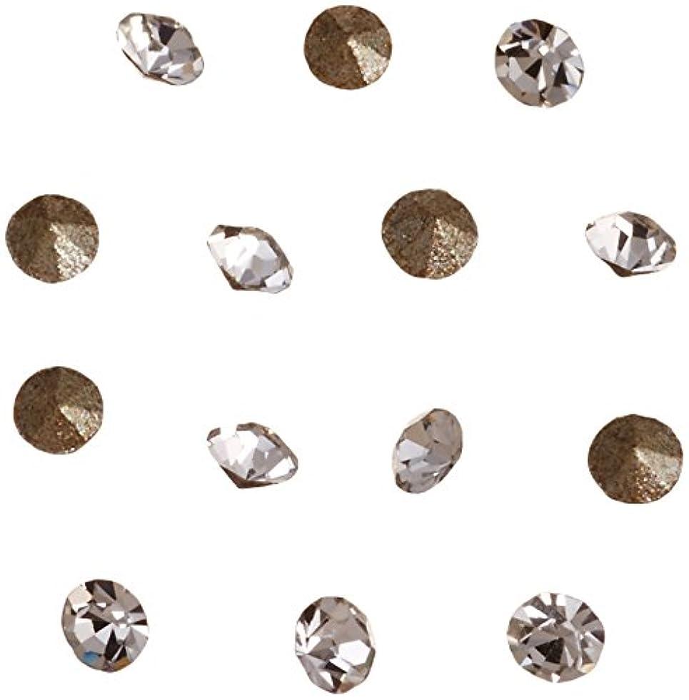 チップリードアシスタントネイルアートパーツ Vカットストーン クリスタル PP 4   約1.1~1.2mm 埋込式ラインストーン