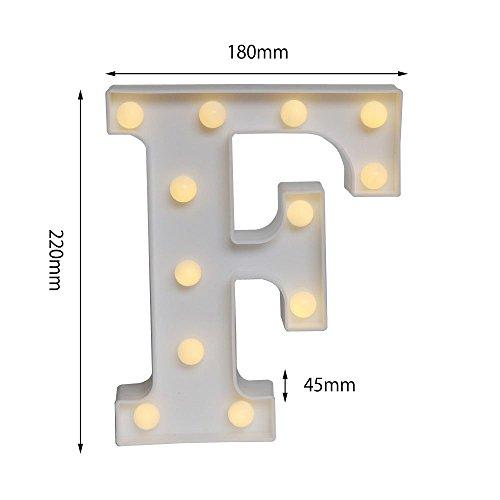 LED イルミネーション イニシャルライト アルファベットライト ホームイベント インテリア ギフト F
