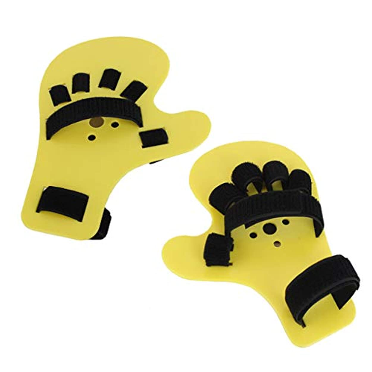 アクチュエータ再発する広い手首装具 - 指リハビリテーション訓練器具、成人の指の固定のための指矯正プレートストローク片麻痺,2pcs