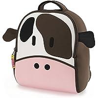 Dabbawalla bags Cow Backpack, Brown/Pink