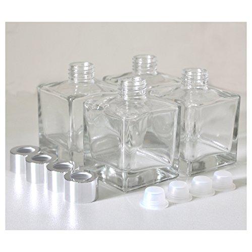 『4本入オフィス、ショップ、ホームアロマガラスボトル、200ml 立方体アロマ精油拡散ボトル』の1枚目の画像