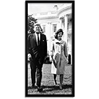 John Kennedy Jackie JFK President Long Panel Framed Wall Art Print 大統領壁
