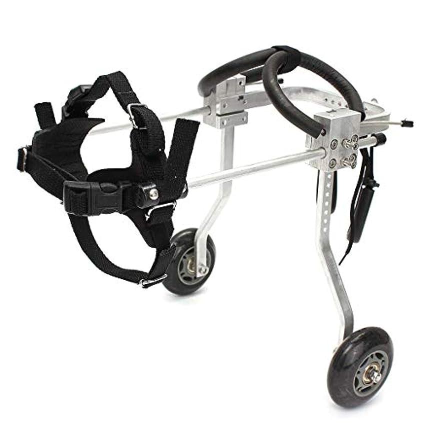 音声学相対的優しさDNSJB ペット用犬車椅子、身体障害者用麻痺ステンレススチールペット車椅子用障害猫犬のリハビリテーション
