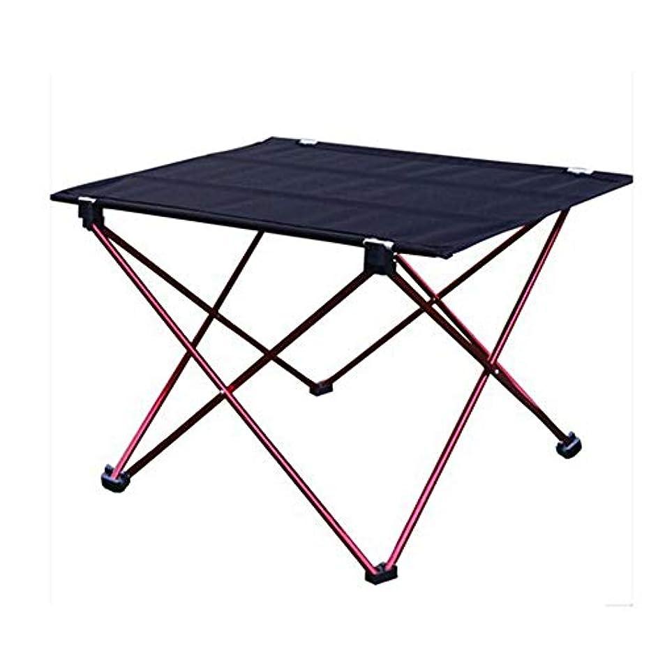 教育する聖職者国旗屋外のピクニック、バーベキュー、釣り、ハイキングおよび旅行のための折り畳み式の屋外のテーブルのアルミ合金の足軽量のキャンプのテーブル アウトドア キャンプ用 (色 : 赤, サイズ : 75*55*35cm)