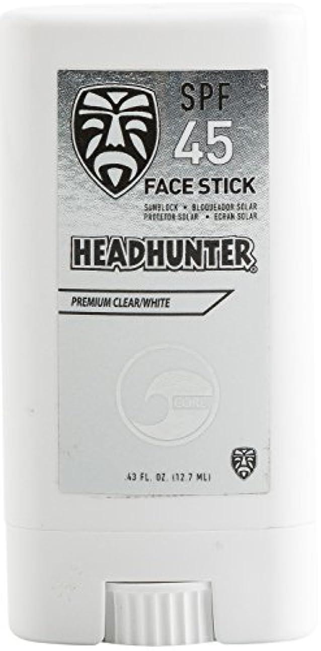 抑圧合理的オンスHEAD HUNTER(ヘッドハンター)日焼止め スティック [CLEAR] FACE STICK SPF45 強力ウォータープルーフ