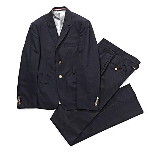 THOM BROWNE NEW YORK トムブラウン MJC001A+MTC001A 00626 上下 セットアップ スーツ ジャケット+パンツ カラー415/NAVY [並行輸入品]